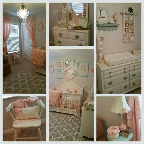 10 Shabby Chic Nursery Design Ideas: Nursery Vintage Shabby Chic Pink And Mint Green By Stanton