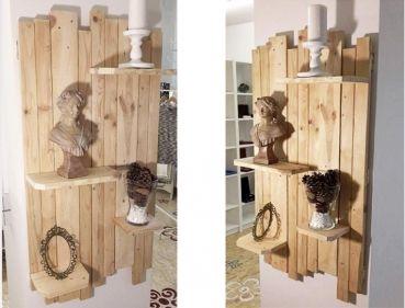 EinFACHfuerDich   Möbel Aus Paletten   Flur Wandregal