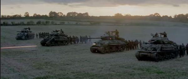 Fury movie Tanks in WWII Tanker Movie Bradd Pitt Breach Bang