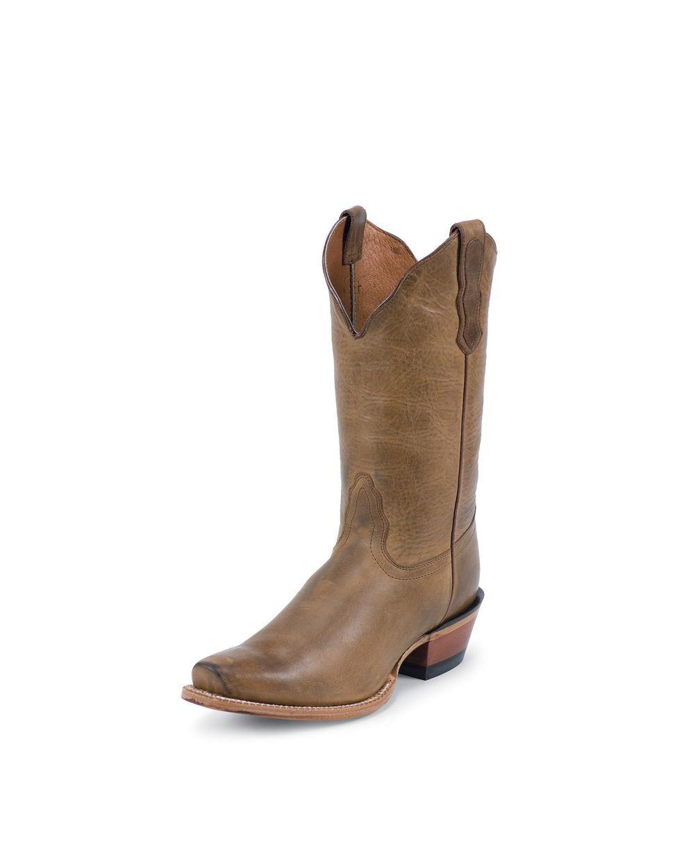 e2d9b766979 Nocona Women's Old West Tan No Stitching & Half Moon Toe Boot ...