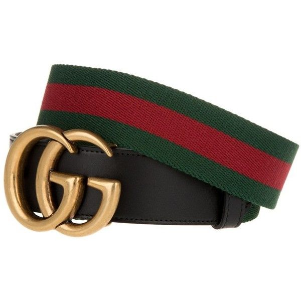 962c636f80f Gucci GG Belt Cuir Green/Red Leather Nero in red, green, black ...