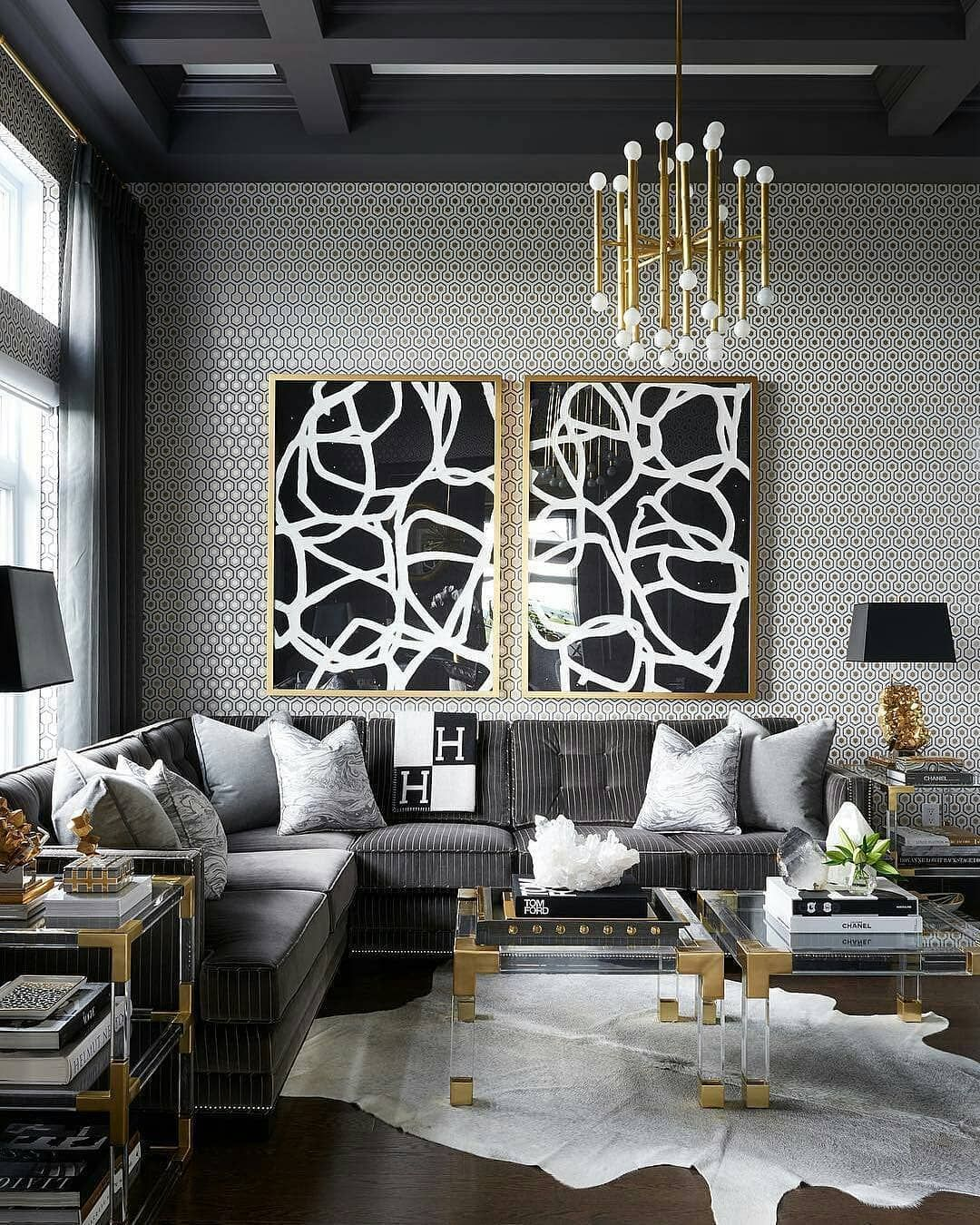 Home Interior Colors In 2020 Gold Living Room Black And Gold