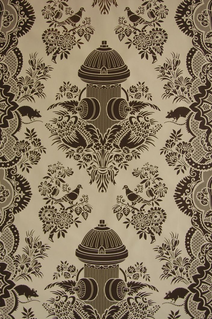 An Interior Designer From NY Came To UNL To Give A Lecture Over Projects  Sheu0027s Worked On And Used This Wallpaper In Another Color For One Of Them!