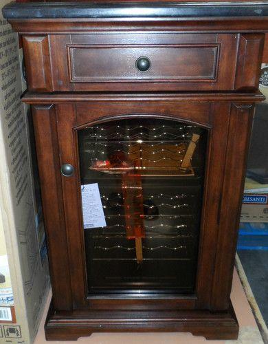 Tresanti Amalfi Wine Cooler Chiller Cabinet Mahogany Walnut W Granite