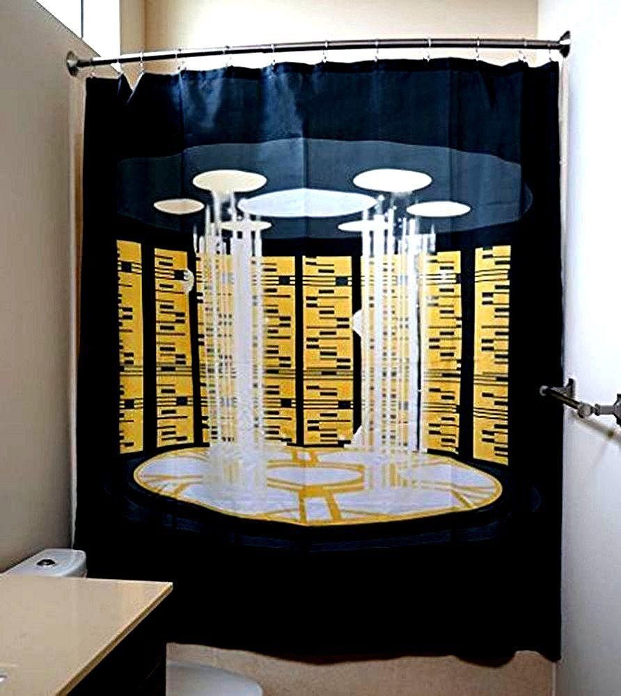 Collectable Dorm Or Bath Accessories! Star Trek TNG Transporter Shower  Curtain
