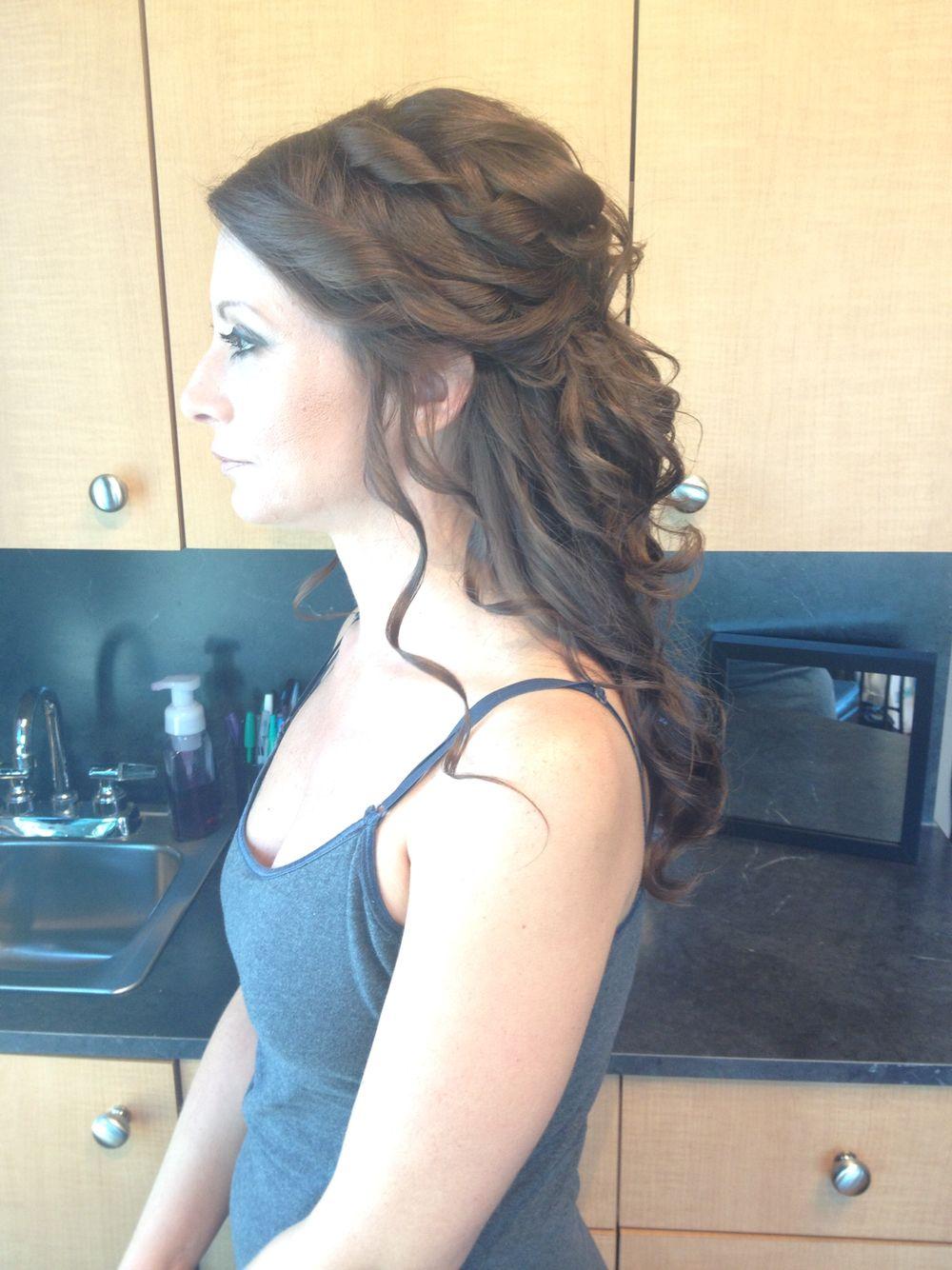 Half updo long hair bymelissa lobaito manestream beauty studio