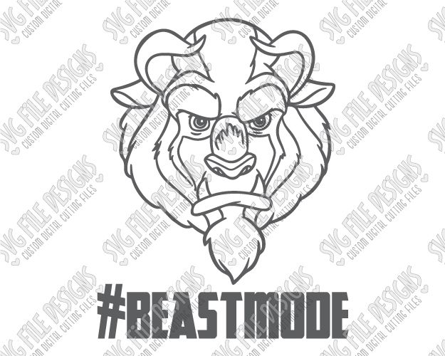 Beast Mode Beauty And The Cut File Set In SVG EPS DXF