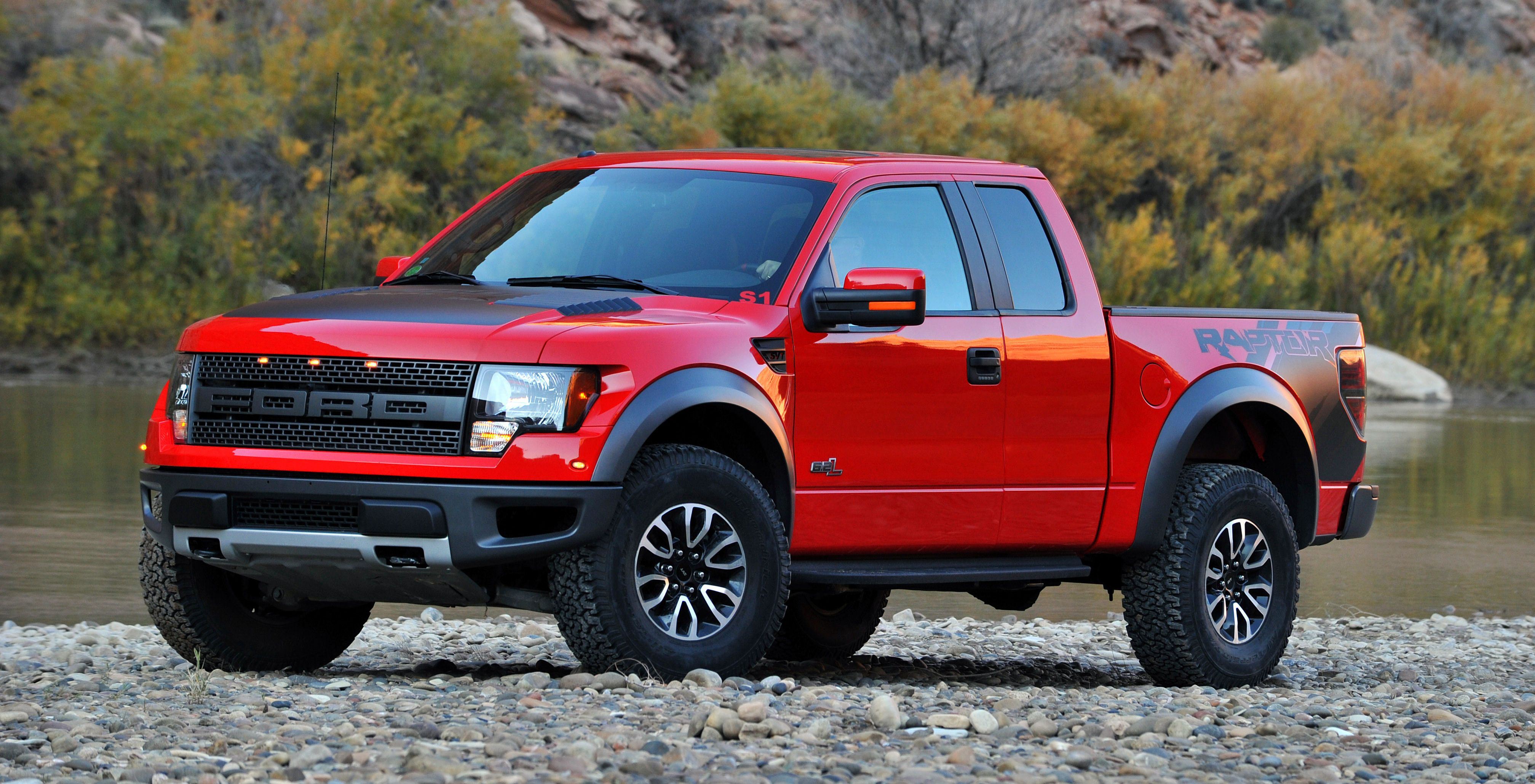 Red and black ford svt raptor truck could be mine one day