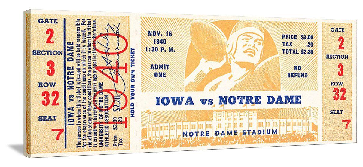 Football tickets the best vintage iowa football tickets