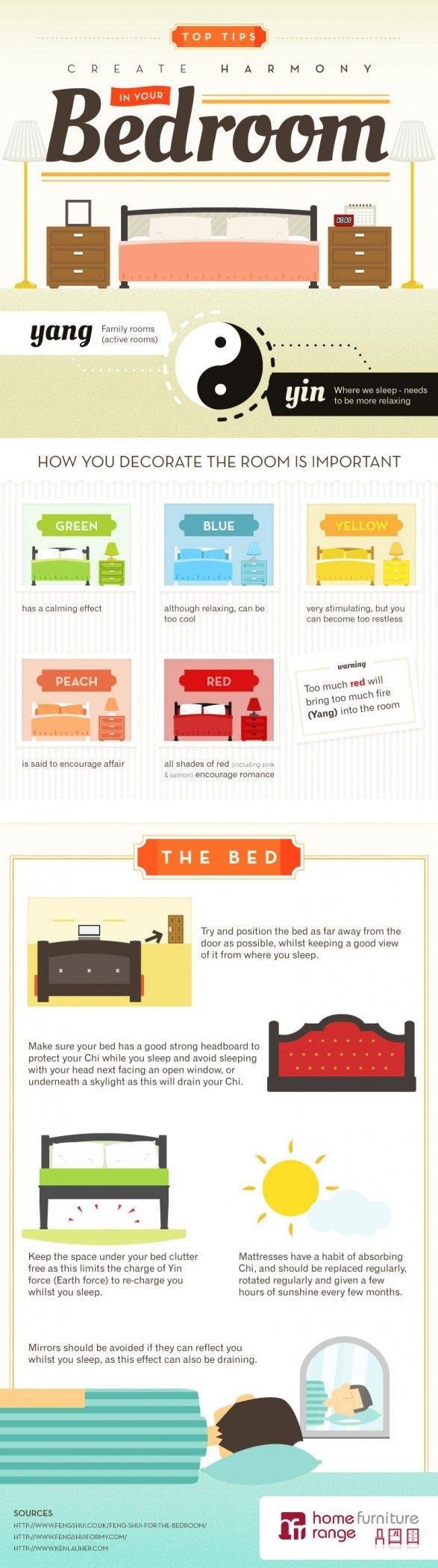 Feng Shui | How To Feng Shui Your Bedroom – [INFOGRAPHIC] #fengshui ...