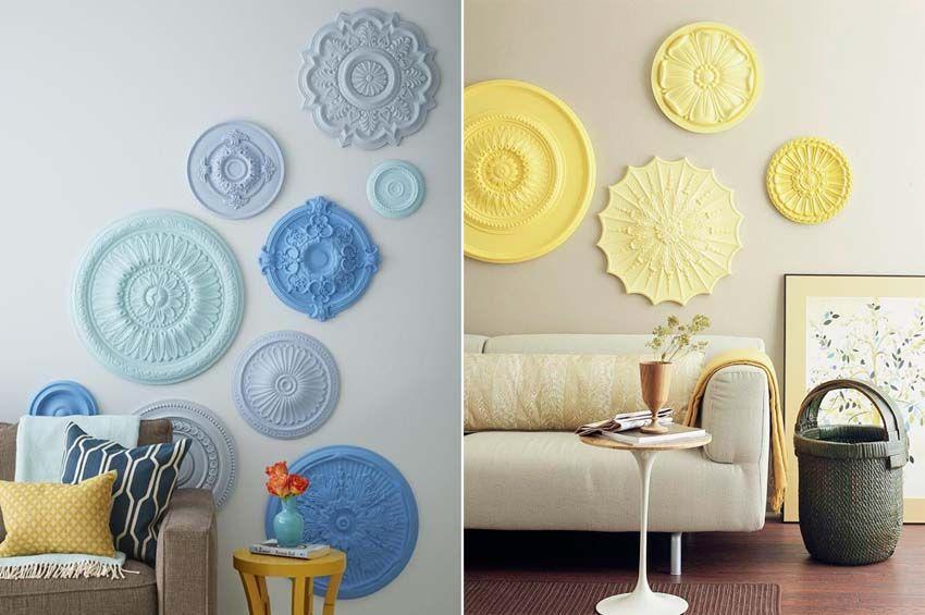 Idee per decorare le pareti i rosoni da parete decoramuri pinterest decorare le pareti - Decorare le pareti di casa ...