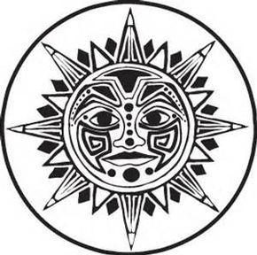 Aztec Sun Stone Coloring Pages Aztec Art Aztec Symbols Aztec