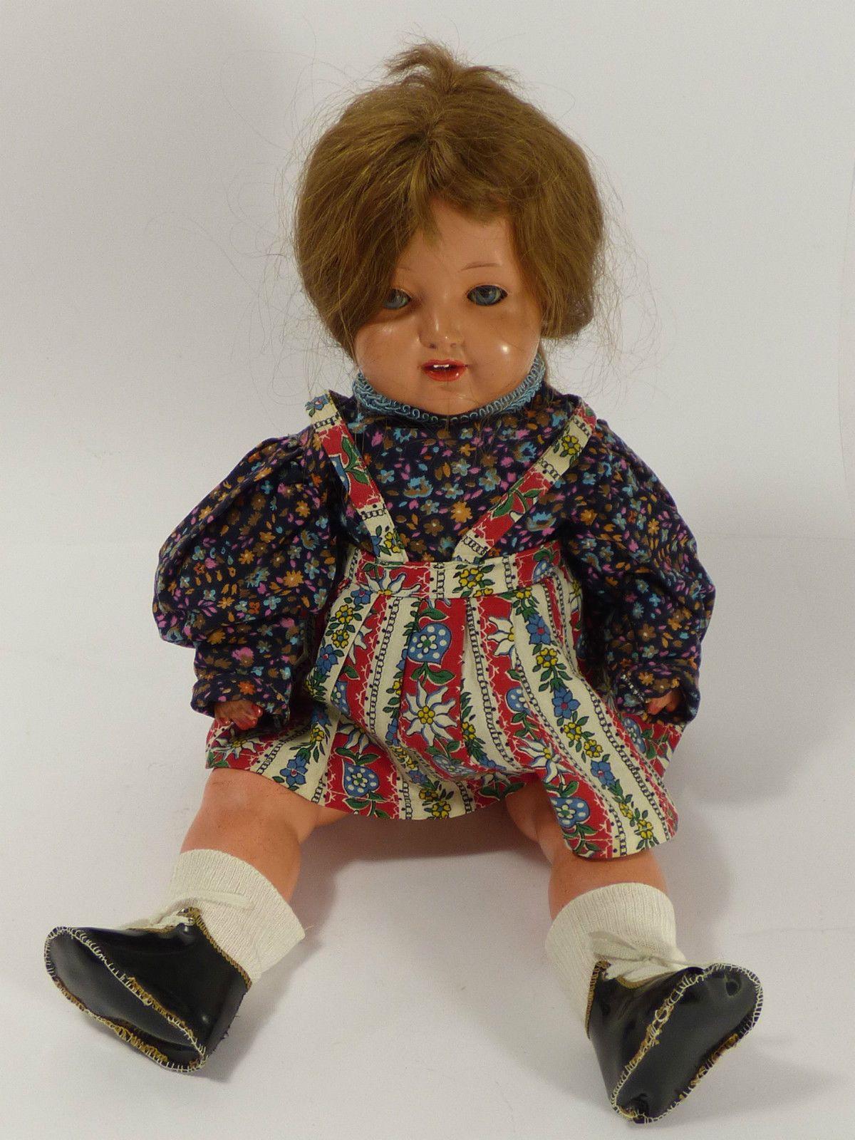 Schildkröt Puppe um 1930 geöffneter Mund, mit Stimme 45 cm | eBay