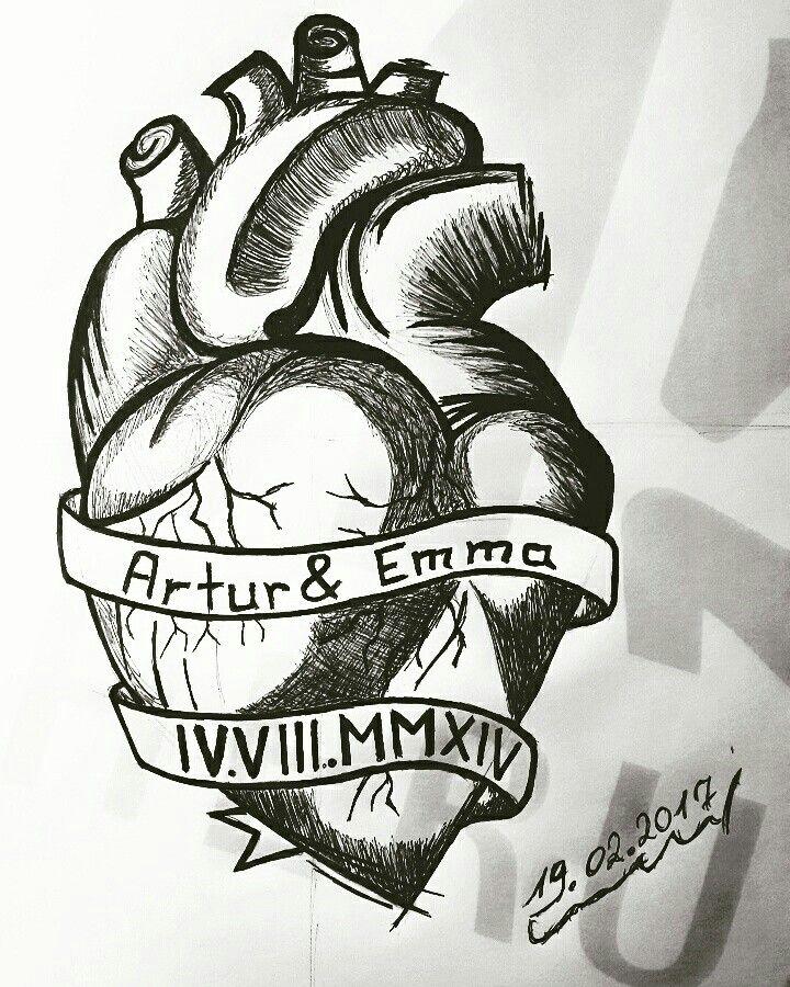Anatomisches Herz Zeichnen   Selfmade   Pinterest