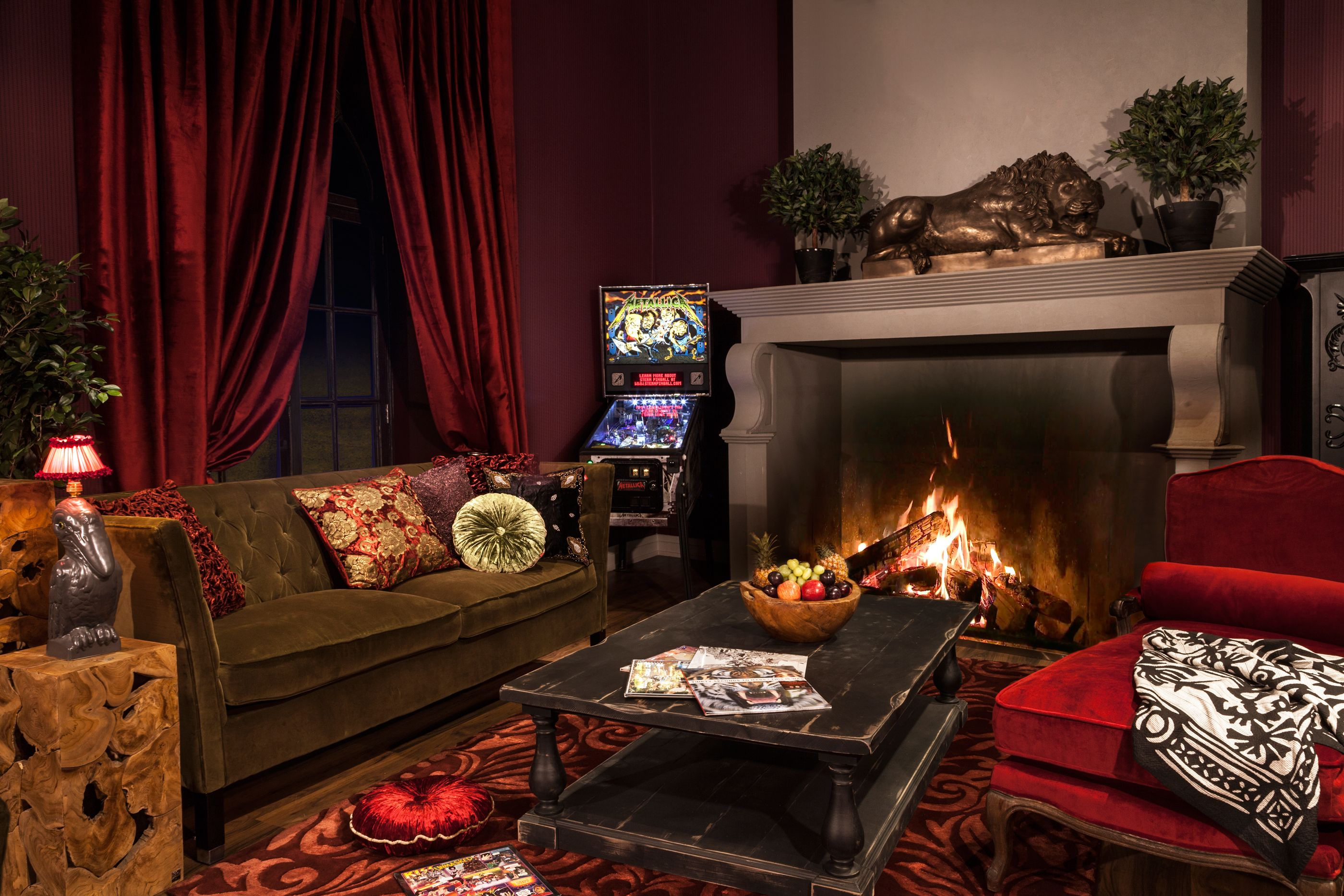Genial Living | Burlesque: Keep Warm On The Plush Velvet Sofa Or Arm Chairs  Surrounded By