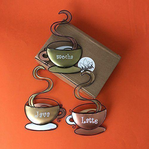 Coffee Cup Wall Decor Latte Java Mocha Metal Mug Home House ...