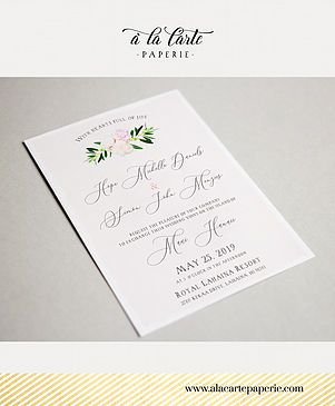 hawaii maui wedding invitation set a la carte paperie destination
