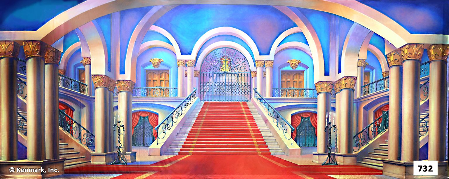 Beauty And The Beast Theatrical Backdrop Rentals By Kenmark Backdrosps