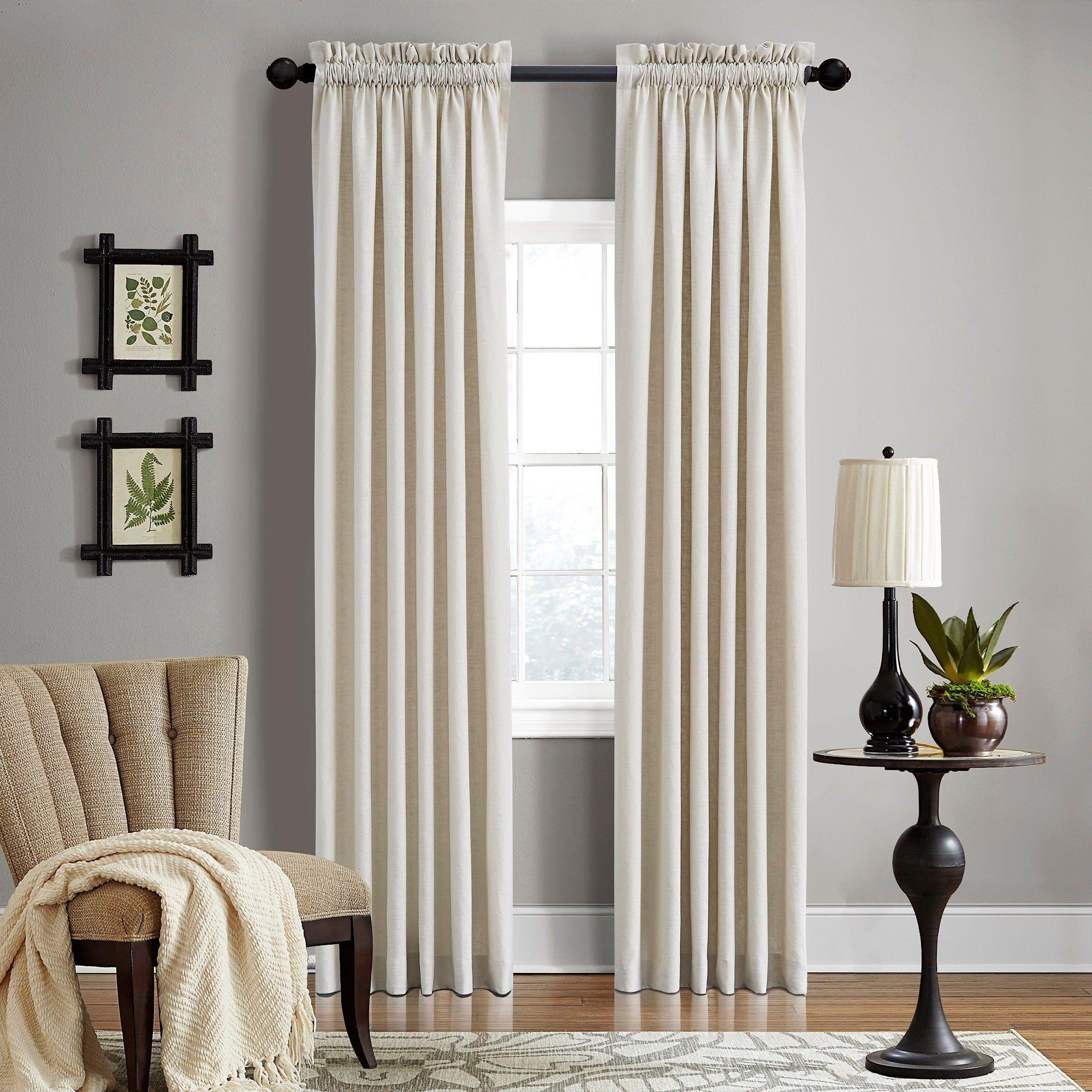 Grand Luxe Gotham Khaki Rod Pocket Curtain Panel