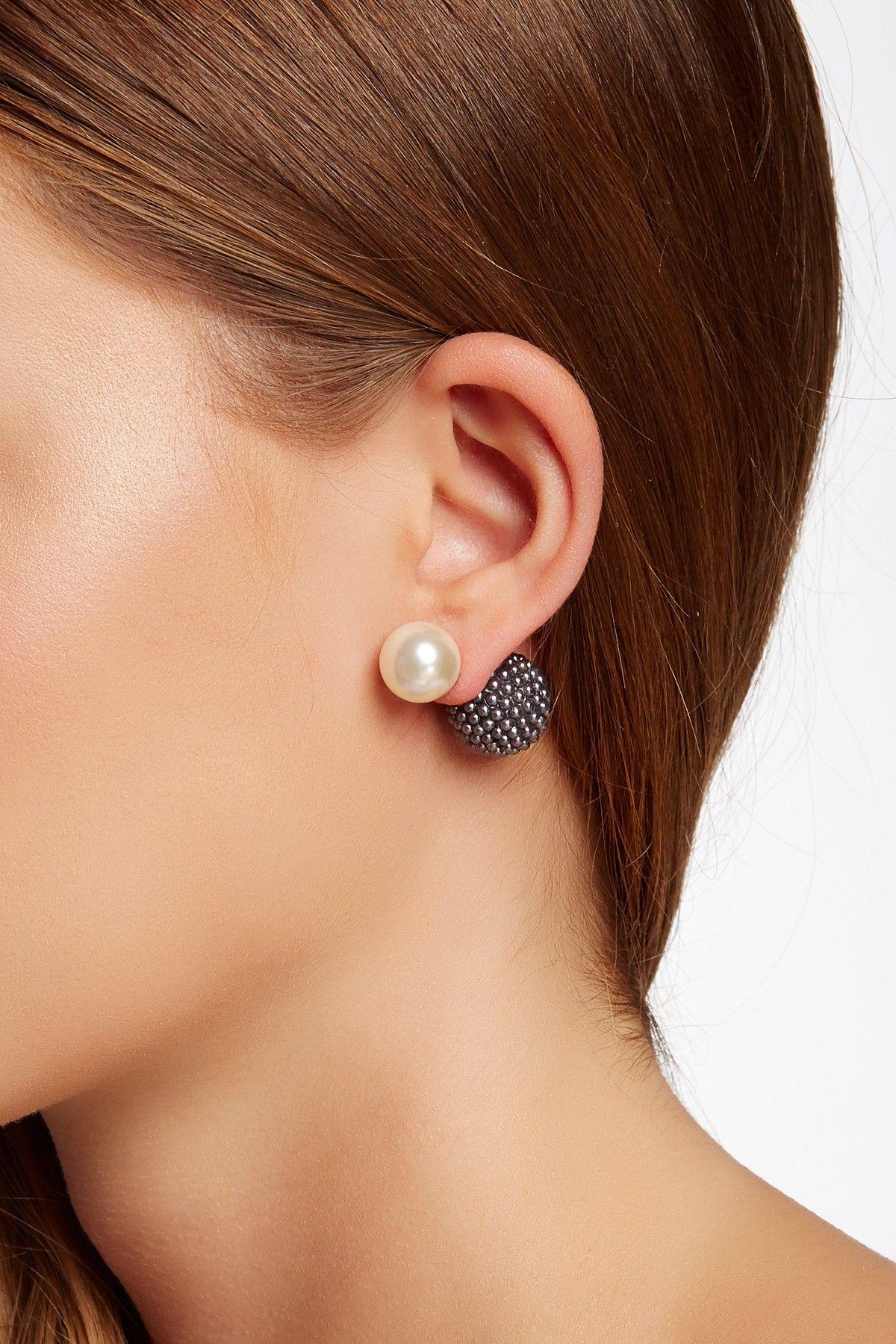 Fancy Double Sided 12 14mm S Pearl Earrings On Nordstrom Rack