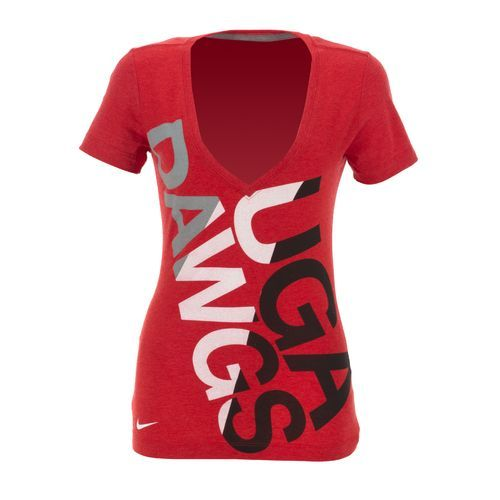 41d53646b Nike Women's University of Georgia Deep V Blended T-shirt | I want ...
