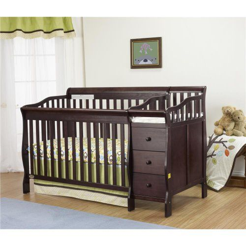 Orbelle Sarah Crib N Bed In Espresso Finish With Images Mini Crib Bedding Cribs Bed