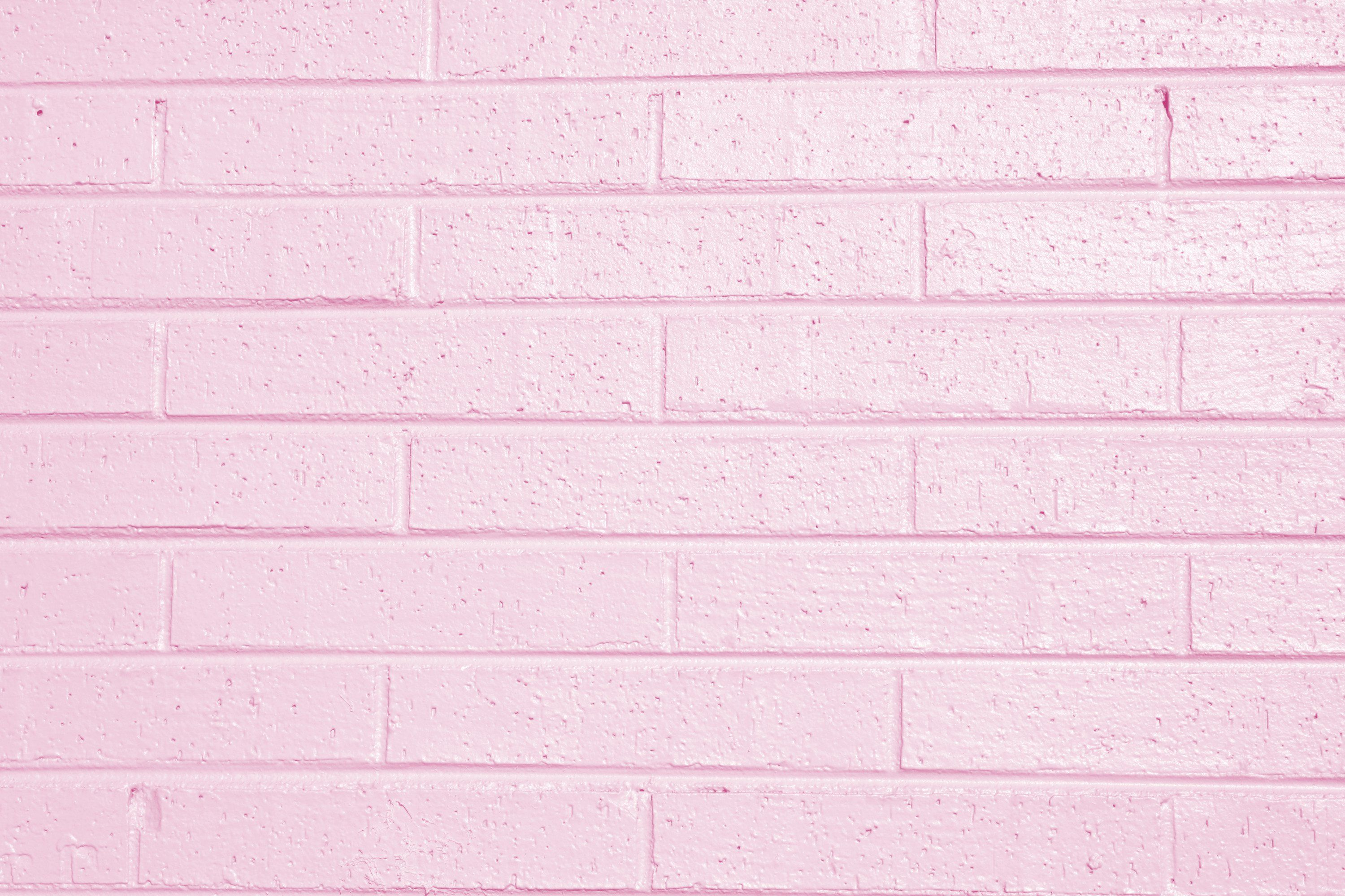 Pink Painted Brick Wall Texture Picture Free Photograph