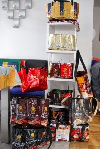 Inessel: viele Kaffeetüten | Taschen | Pinterest | Taschen selber ...