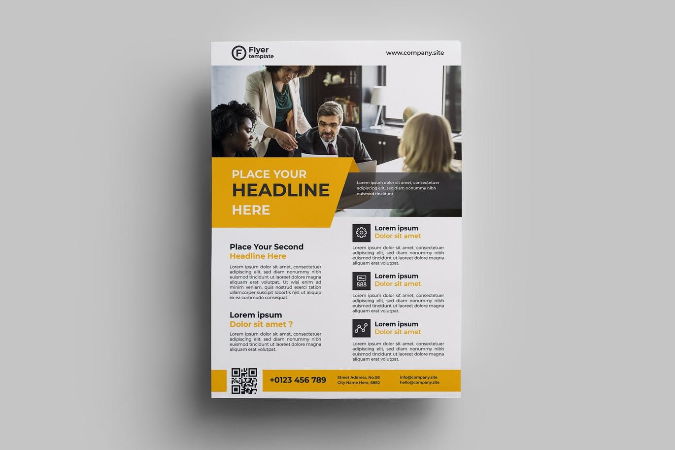 Corporate Flyer Design 03 By Adilbudianto On Envato Elements Corporate Flyer Business Flyer Flyer