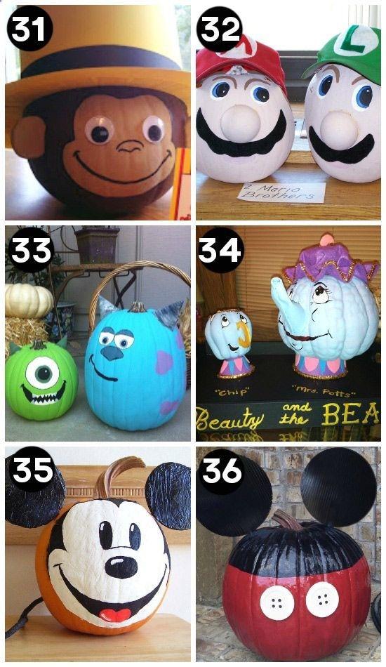 Fun pumpkin decorating ideas   Citrouille halloween décoration, Citrouille halloween peinture et ...