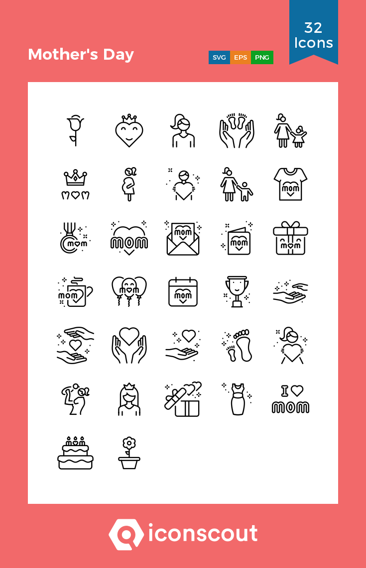 Download Mother S Day Icon Pack Available In Svg Png Eps Ai Icon Fonts Icon Icon Pack Icon Font
