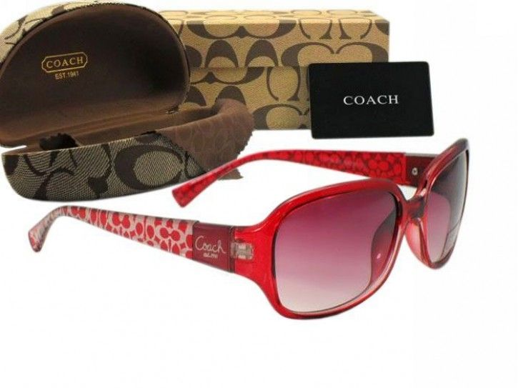 Coach Sunglasses Designer Glasses red 8016