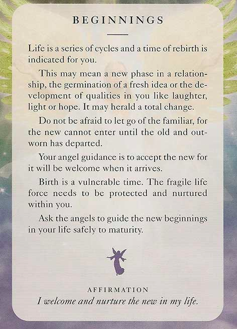 Beginnings Angels Of Light Cards By Diana Cooper Spiritualitet Citater Engle