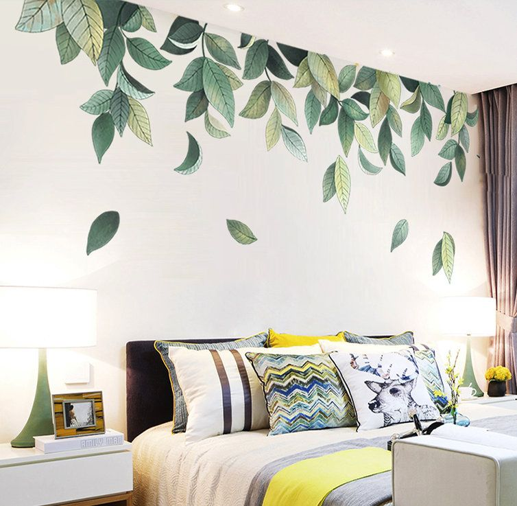 Fresh Green Medium Leaf Vinyl Wall Sticker Wall Decal Art