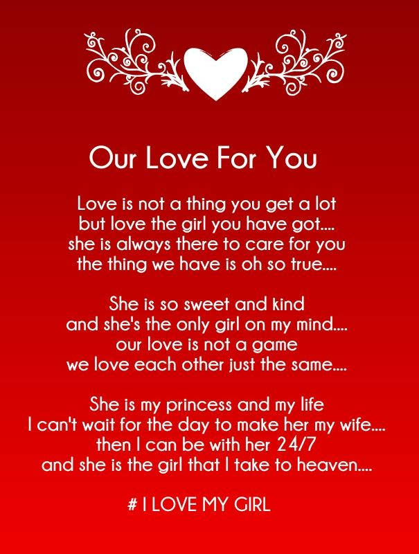 Poems For Her I Love You