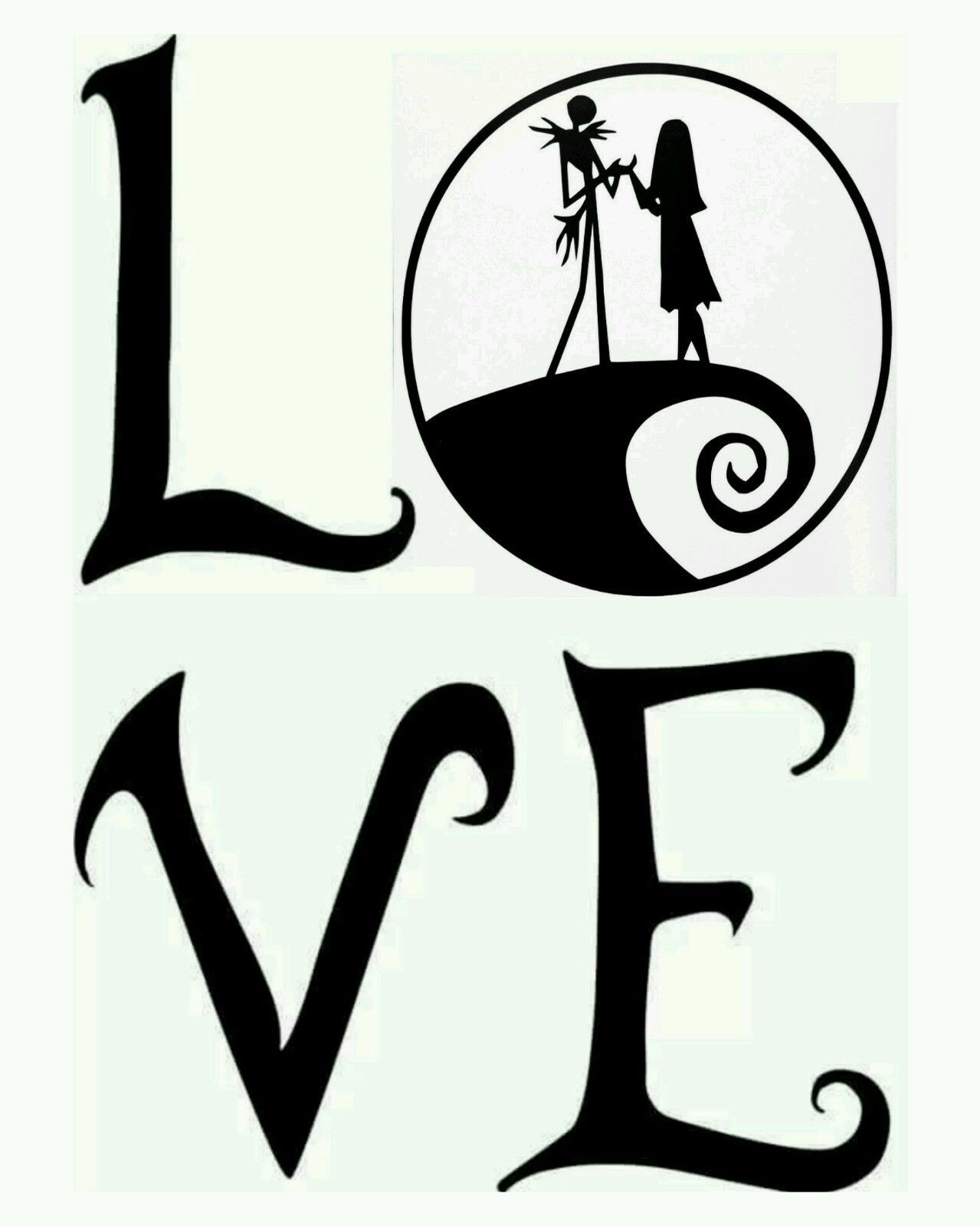 Jack Skellington and Sally Nightmare Before Christmas Love Car Decal ...