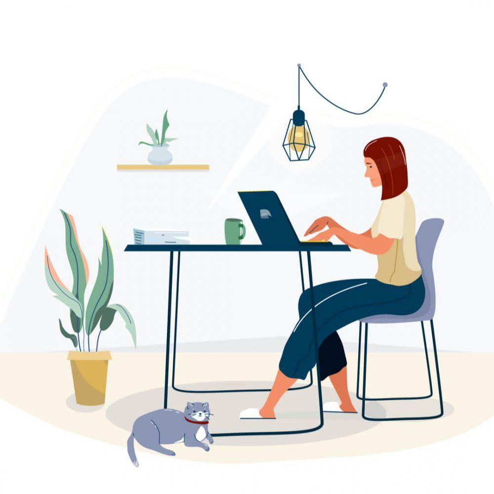 Most people around the world have to work from home