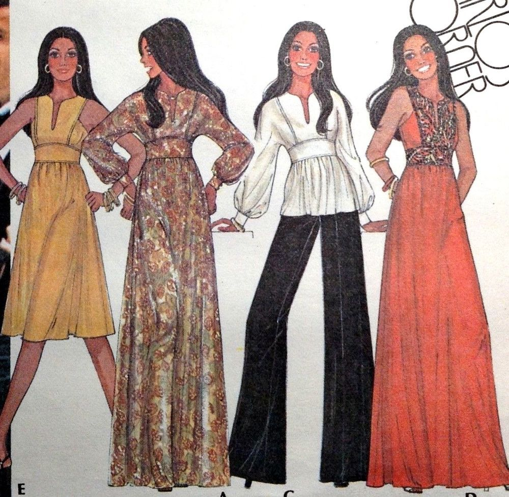 Vtg uc mccalls sewing pattern maxi dress sun summer tunic top