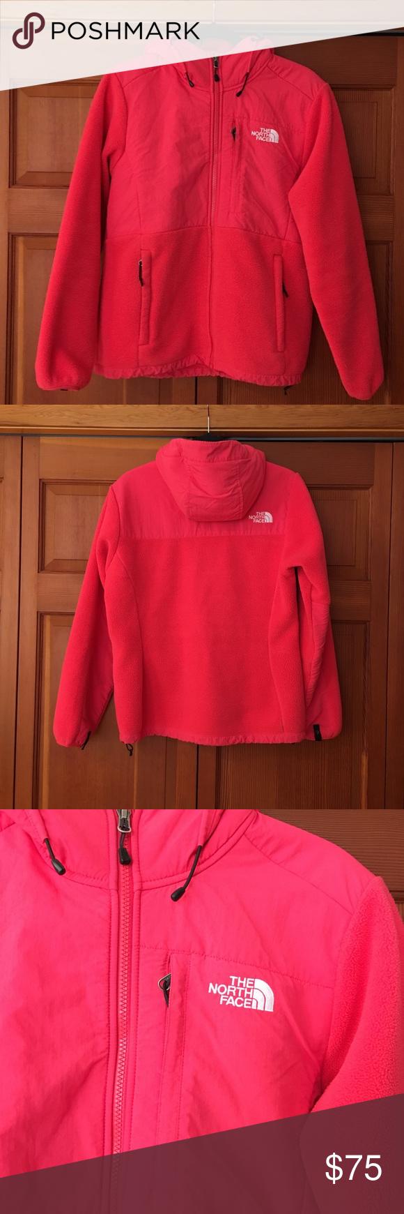 The north face denali fleece jacket north face women coral color