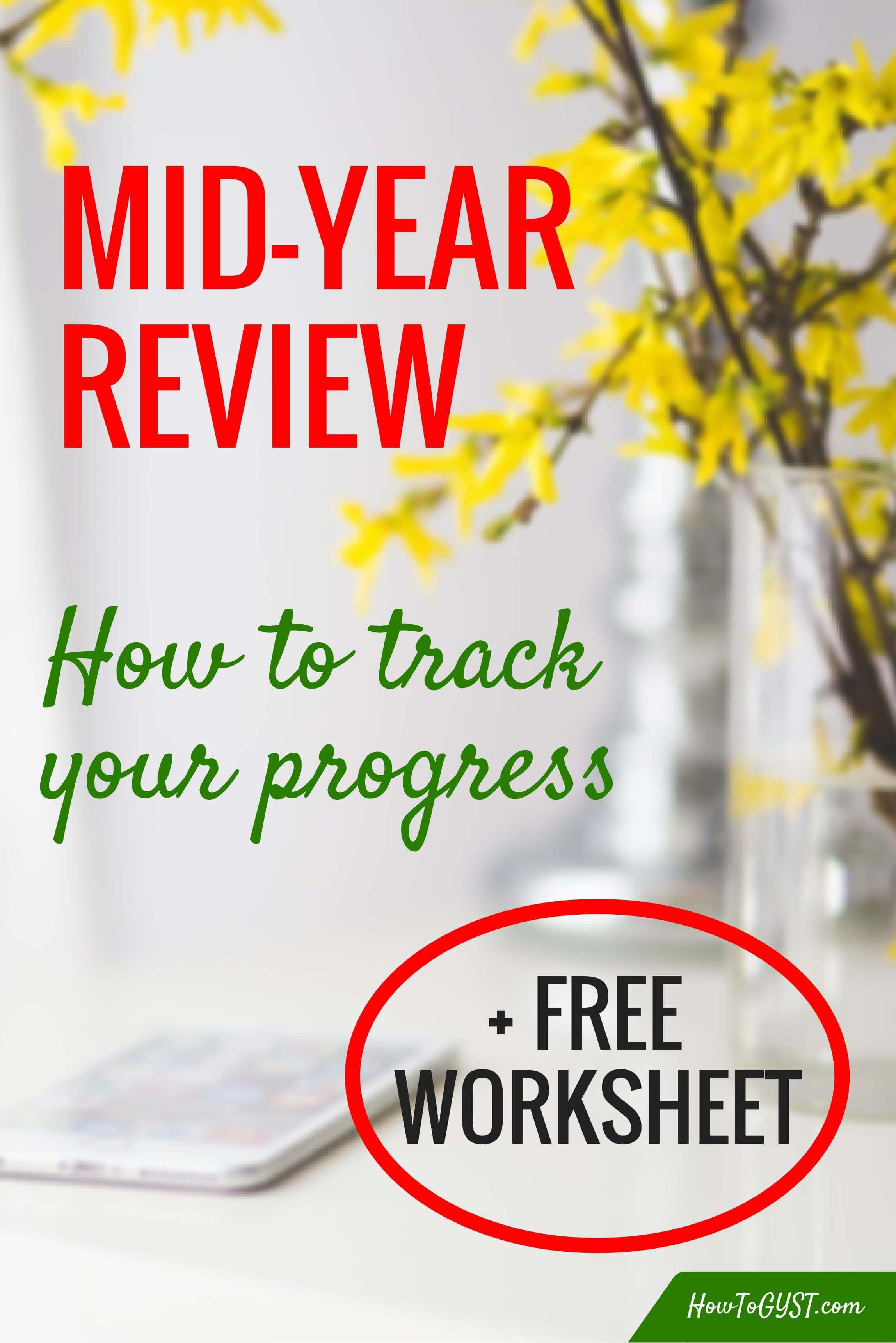 Mid Year Review Free Worksheet