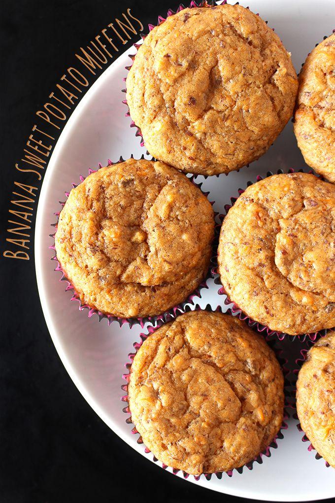 Vegan Banana Sweet Potato Muffins