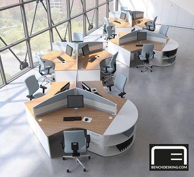 Centaur 120 Degree Desks Office Space Design Open Office Design Modern Office Design