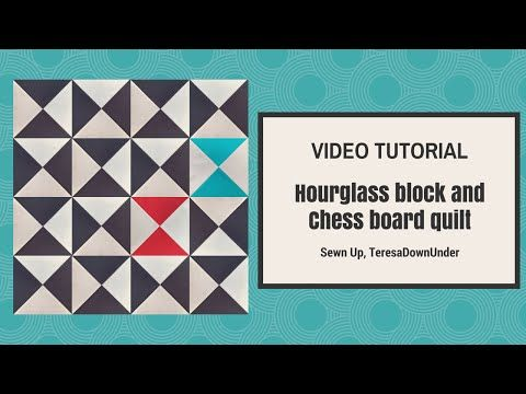 Quick and easy: Broken chess board free quilt pattern- hourglass ... : free quilt videos - Adamdwight.com