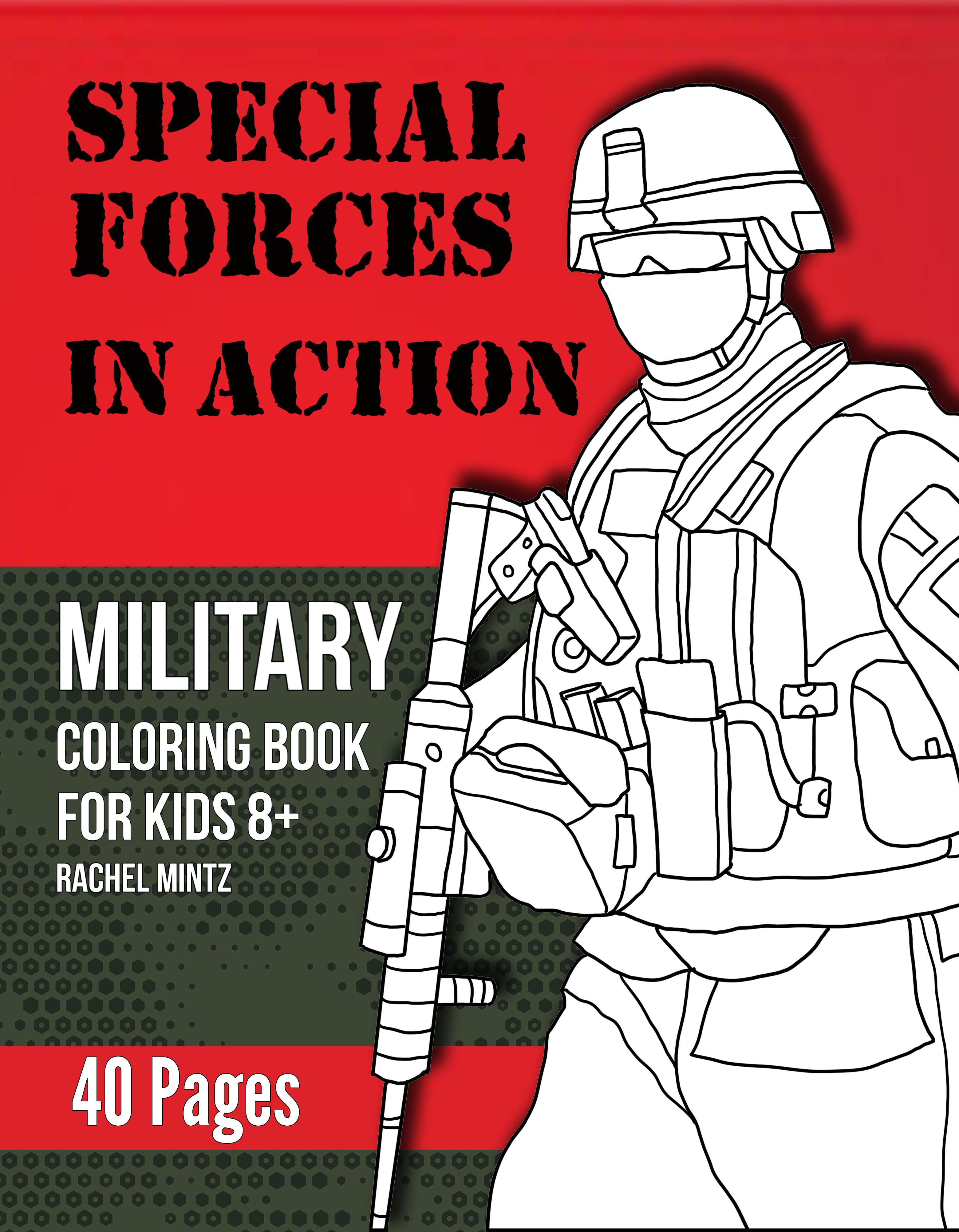 Patriotic action scenes for coloring, with tough men, rough ...