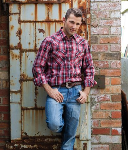 Country Men S Fashion Western Yokes With Twin Needle