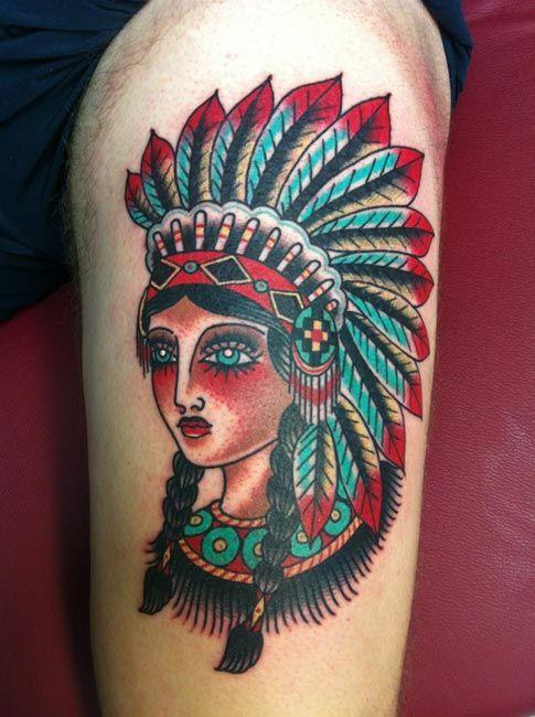 American Traditional Tattoo Tattoo Native Binspired border=