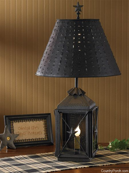 Blackstone Lantern Lamp Lantern Table Lamp Primitive Table Lamp