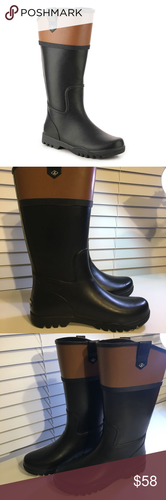 SPERRY Nellie Kate Waterproof Rain Boot
