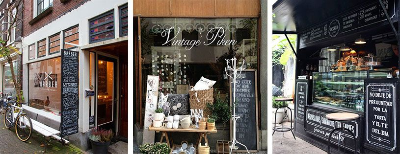 Decorar con pizarras tiendas store design exterior for Decoracion exterior