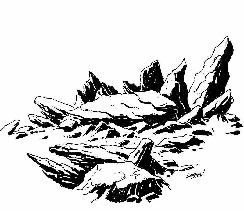 draw rocks drawing